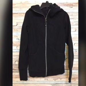 Lululemon women's Scuba ZIP hoodie black size 2
